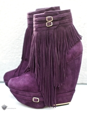 fringes,violet,purple shoes,shoes