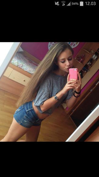 skinny long hair fit brandy brandy melville girls healty perfect