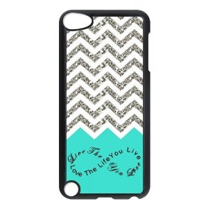 Amazon.com: Design For You Colorful Chevron Pattern Live the Life You Love, Love the Life You Live IPOD TOUCH 5th Durable Plastic Case Without Glitter: Cell Phones & Accessories