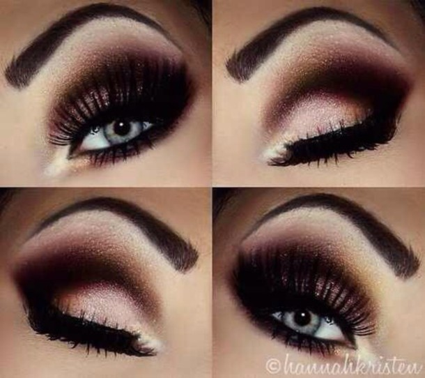 make-up black and white eyeshadow