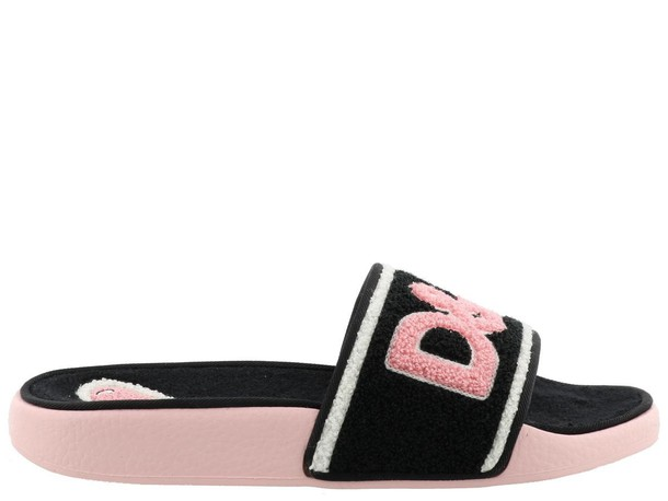Dolce & Gabbana black pink shoes