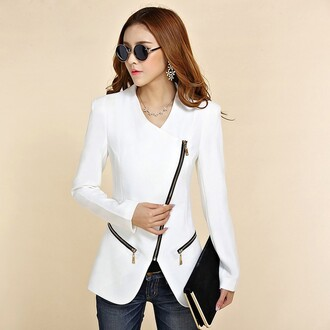 jacket white zipped white jacket perfecto round sunglasses round frame glasses jewels sunglasses clutch all white everything classy