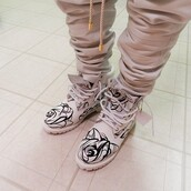 shoes,boots,timberlands,rose,floal,arty,beautiful,black and white