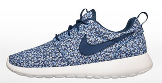 shoes nike nike roshe run liberty nike id liberty london blue sneakers