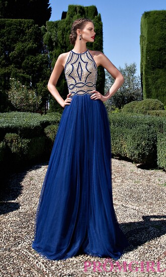 dress prom dress open back blue prom dress gown