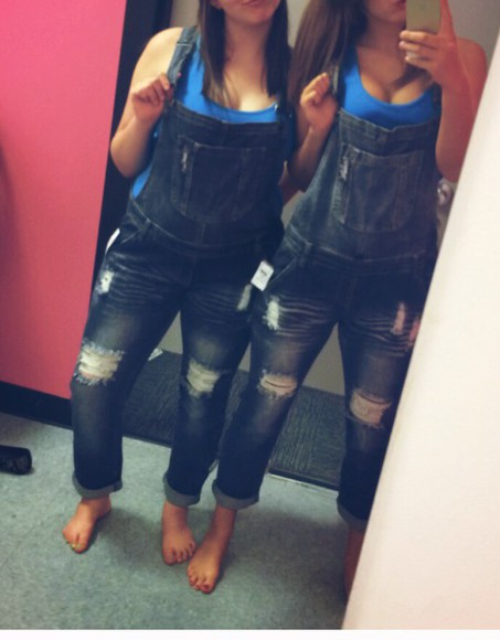 overalls dungarees tank top summer outfits country style