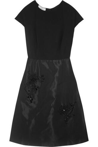 dress embellished black silk