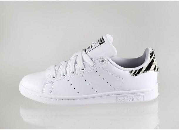 shoes adidas stan smith w zebra stan smith adidas zebra print white