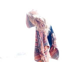 jacket aztec multicoloured hippie boho blouse muster