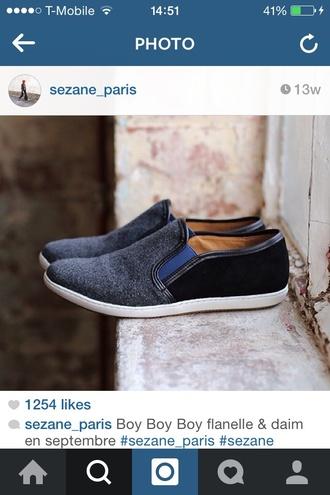 mens shoes sezane slip on shoes