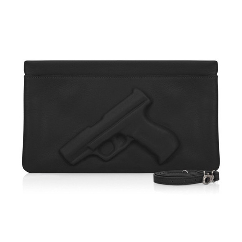 BLACK GUN GRENADE HANDCUFF CLUTCH / back order – HolyPink