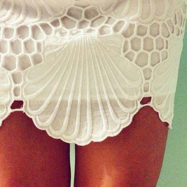 skirt skirt lace shell ivory summer lace skirt