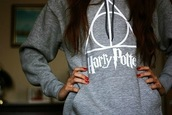 jacket,harry potter,grey sweater,gray hoodie,harry potter and the deathly hallows,sweater,hoodie,cute,potter,harry poter,harry,comfy,yay,clothes,lazy day,harry potter sweatshirt,harry potter symbol,harrypottersweater