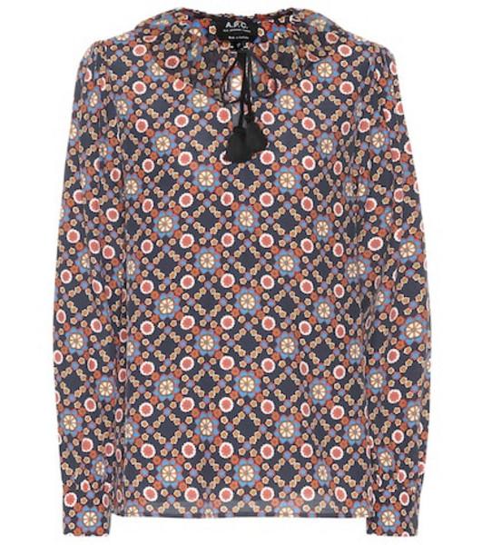 A.P.C. Debbie floral-printed blouse