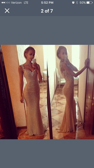dress plunge neckline sequins prom dress mermaid v neck tight sexy dress beautiful