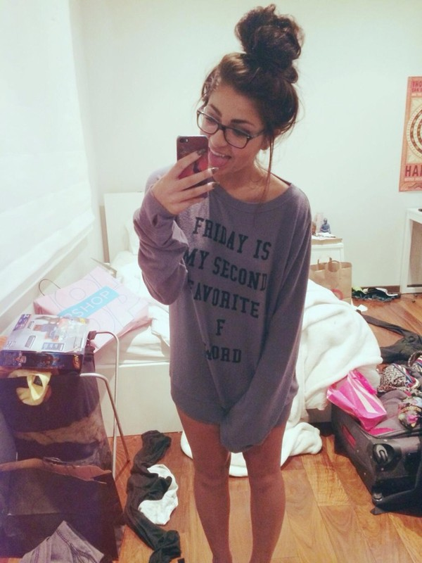t-shirt friday andrea russett grey pajamas