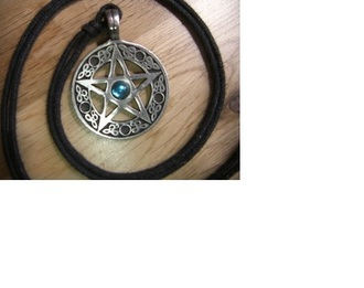 jewels wiccan jewelry wiccan star necklace chocker blue gem engraved jewelry engraved necklace