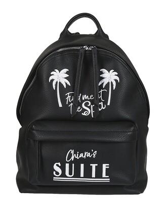 tropical backpack black bag