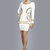 Sexy Herve Leger white sequined long sleeve dress on sale,just $239.Free shipping.