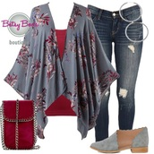 cardigan,floral,kimono,blue,denim,jeans,shoes,jewelry,earrings,handbag,purse,ootd,ootn,outfit,outfit idea