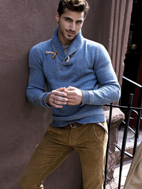 Sweater: blue sweater, cardigan, pullover, menswear, blue, baby ...