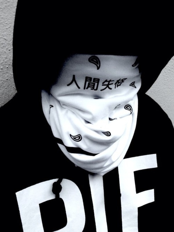 scarf blvck street goth blvck fashion dark black and white japanese japanese fashion urban ninja sweater