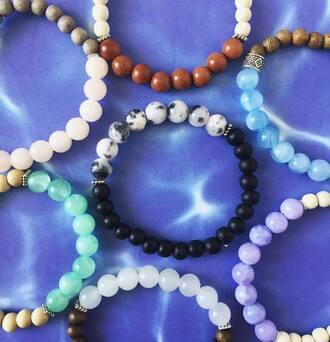 jewels beaded gemstone crysta crystal bracelets stacked bracelets