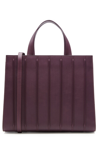 leather purple bag