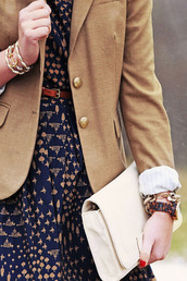 dress,printed dress,jacket,blazer,handbag
