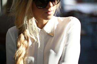 blouse collar white blouse chiffon