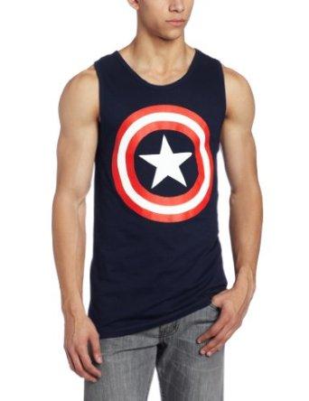 Marvel Captain America 80s Captain Men's Navy Blue Tank Top Shirt | XXXL: Amazon.de: Bekleidung