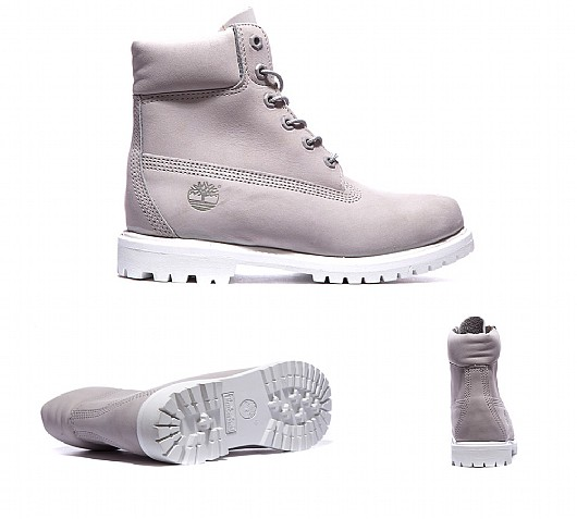 grey and white timberlands womens