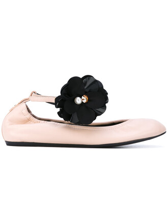 women shoes floral leather purple pink