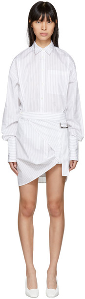Helmut Lang dress shirt dress white