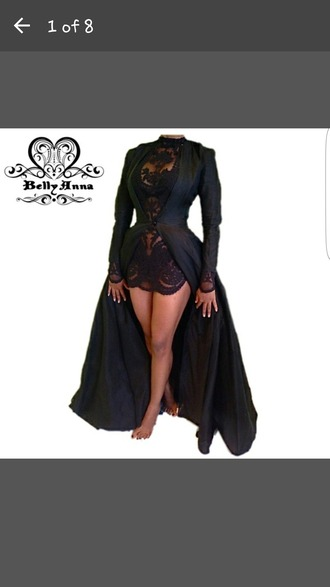 jacket goth cute sexy love black dress short