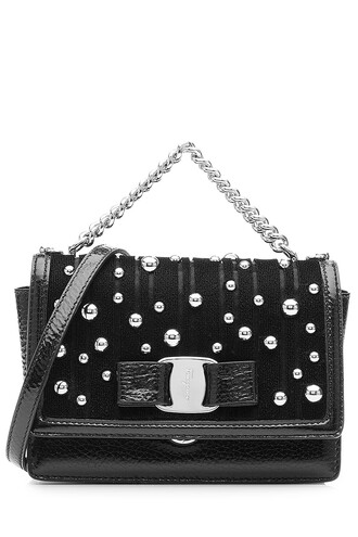 embellished bag shoulder bag leather black
