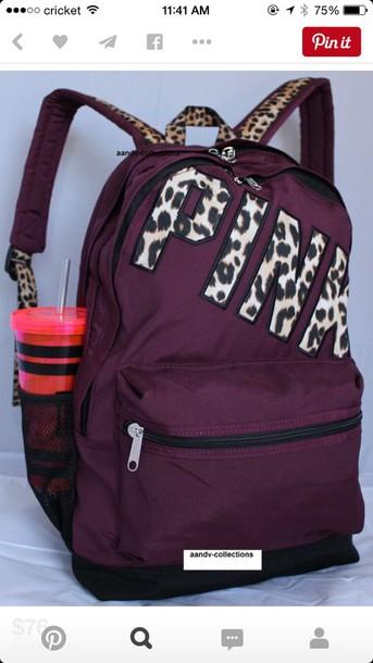 2db944cf45 bag pink victoria s secret victoria s secret pink by victorias secret  burgundy pinterest backpack school bag