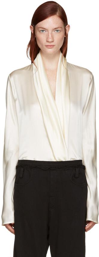 blouse draped silk top