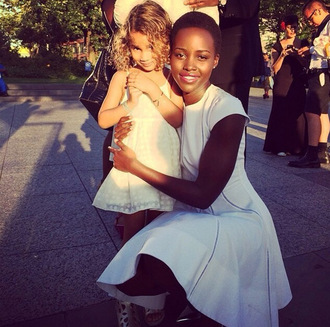 white dress dress lupita nyong'o kids fashion