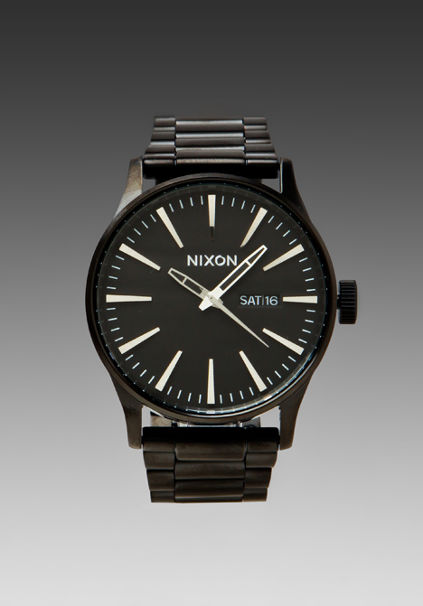 NIXON The Sentry SS in All Black at Revolve Clothing - Free Shipping!
