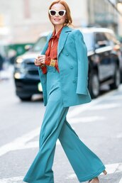 top,shirt,kate bosworth,fall outfits,work outfits,pants,blazer,suit