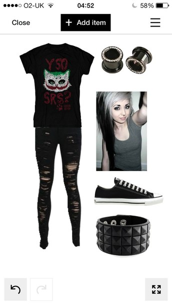t-shirt cat the joker jeans belt jewels black t-shirt