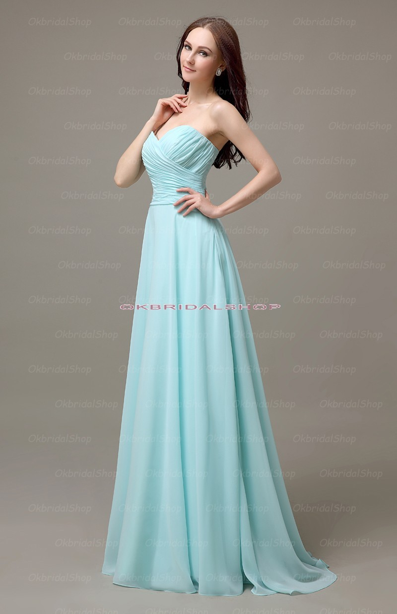 Long bridesmaid dresses tiffany blue bridesmaid dresses for Wedding dresses with tiffany blue
