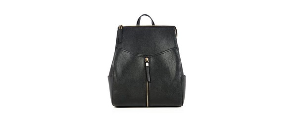bag leather zip backpack cool girl style black leather backpack