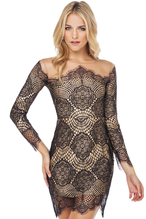 lace dress black dress