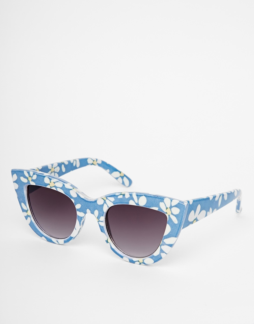 ASOS Cat Eye Sunglasses in Floral Print at asos.com