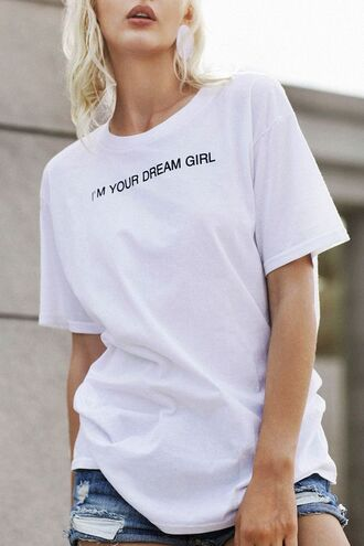 t-shirt dezzal white casual quote on it fashion style cute trendy lookbook