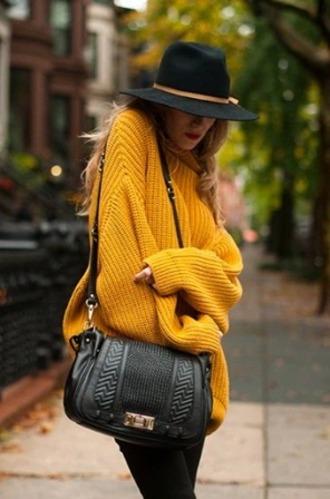 sweater vintage pullover yellow hat automn pull irish sweater