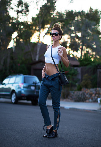 sunglasses top bag shoes crop tops blogger studs calvin klein derbies sexy slit pants