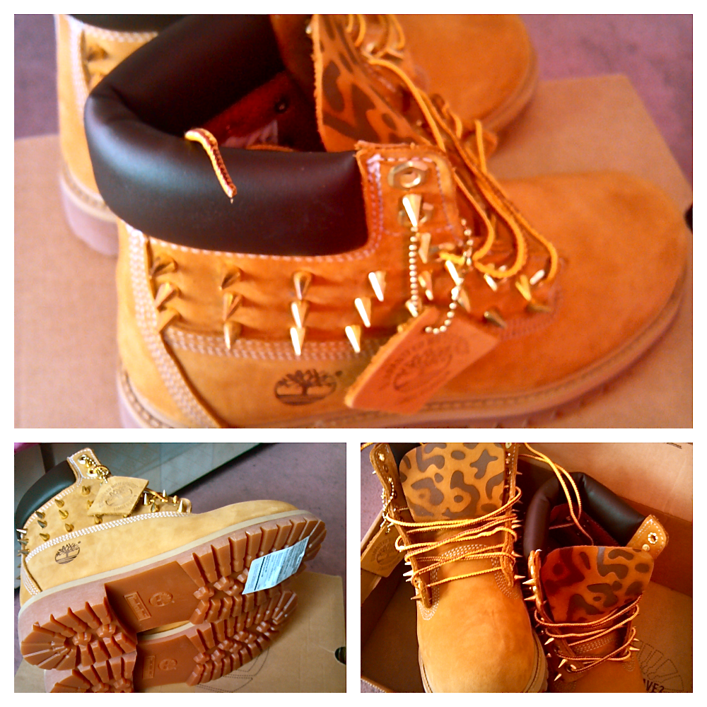 Customized Timberlands With Spikes Timberland Boots With Spikes